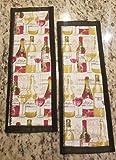 Refrigerator Door Handle Covers Set of Two Wine