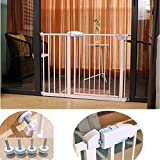 Child safety gates Baby Gate Extra Wide with Walk Through Door Two-Way Opening Double Lock Setting for Narrow Or Wide Doonways Size  190-197cm
