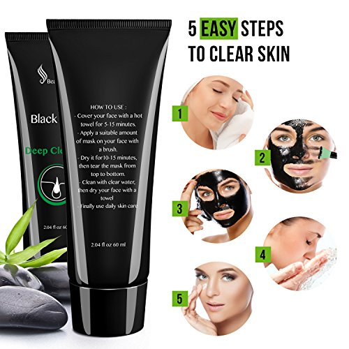 Treatments & Masks Practical Bamboo Charcoal Black Mask Face Care Deep Cleansing Purifying Blackhead 3 Steps Black Head Remover Acne Nose Mask Bringing More Convenience To The People In Their Daily Life Beauty & Health