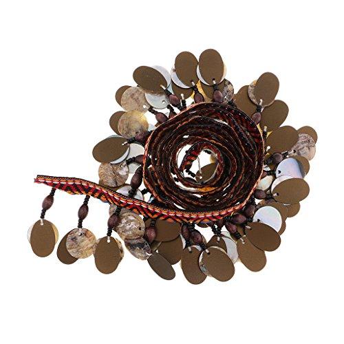 Perfk リボン エッジトリム タッセル シェルビーズ 民族風 アクセサリー 結婚式 装飾 1ヤードの商品画像