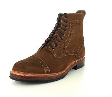 Stacy Adams Men's Madison II Cap Toe Boot 00081,Tan Suede,US ...