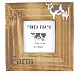 3x3 Inches Square Natural Wood Desk Stand Single Picture Frame for Home Decor