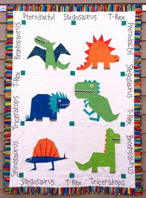(Made by Marney Paper Pieced Quilt Pattern - Dinosaurs (44