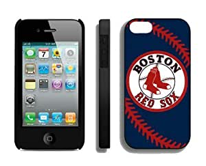 Best Iphone 4/4s Case MLB Boston Red Sox Sports Element Coolest Custom Made Mobile Accessories