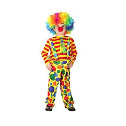 Amazon.com: Yaxuan Childrens Clown Halloween Set Costume ...