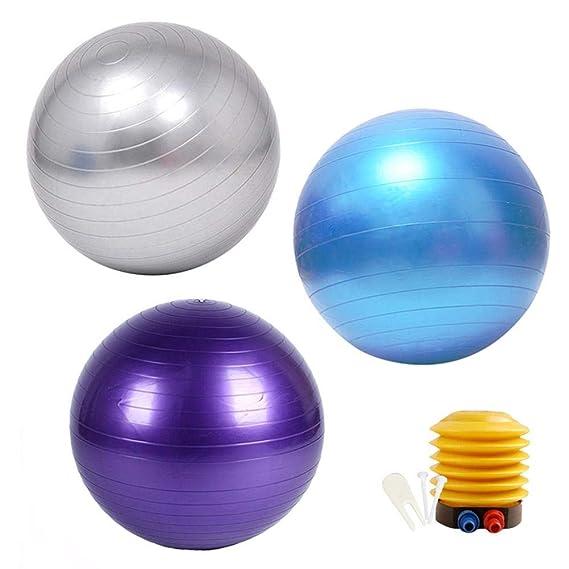 Core Strength /& Posture Back Pain Xtian Anti-Burst Slip-Resistant Yoga Balance Stability Ball for Improves Balance