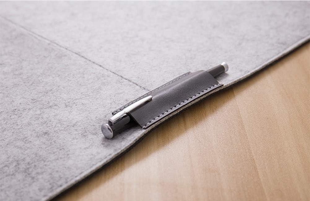 Durable Felt Desk Mat Key Board Pad, Mouse Mat with Pockets Table Storage Organiser for Home//Office,Laptops//Desktops(670 * 330cm -Gray