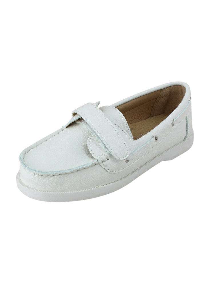 Boutique-Magique Chaussures Bateau Enfant Blanche Noir Mariage