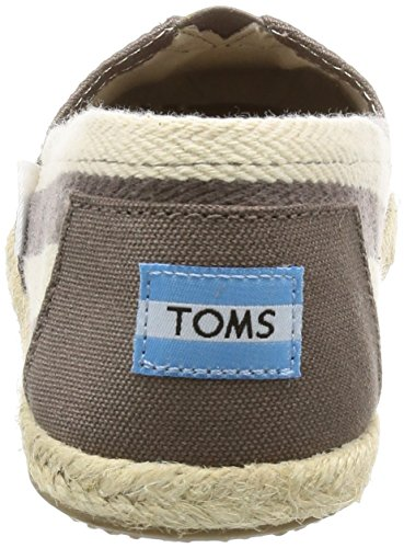 Toms Canvas Classic Stripe Alpargata, Sneaker Donna, Grigio (Dark Grey Stripe University), 36.5 EU