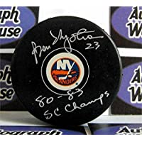 $107 » Bob Nystrom Autographed Puck - Bobby inscribed 80 83 SC Champs - Autographed NHL Pucks