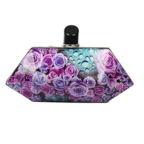 Signore Per Evening Sera Da Yan Le Bag Banchetto Borsa Purple Borse Feste blue xw0qaB6RX