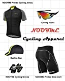 NOOYME Men's Cycling Shorts 3D Gel Padded Bicycle