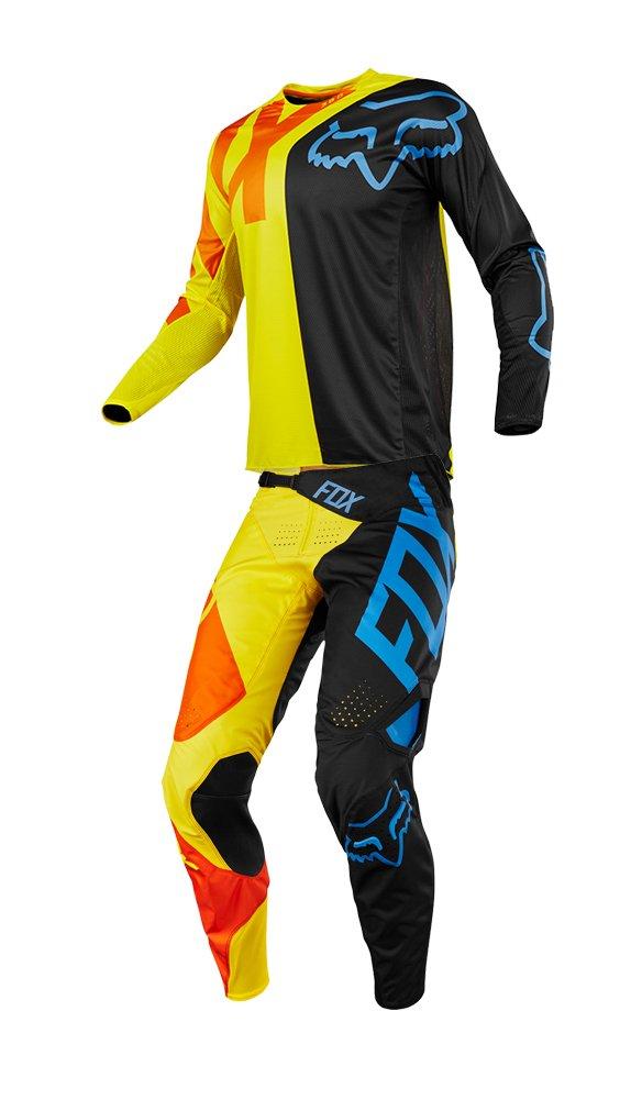 Fox Racing 2018 360 Preme Jersey-Black//Yellow-XL
