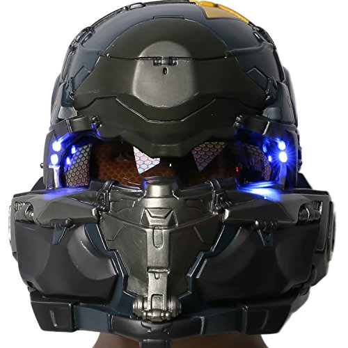 [Guardians Spartan Helmet Deluxe Resin Game Halloween Cosplay Costume Prop Xcoser] (Master Chief Suit For Sale)
