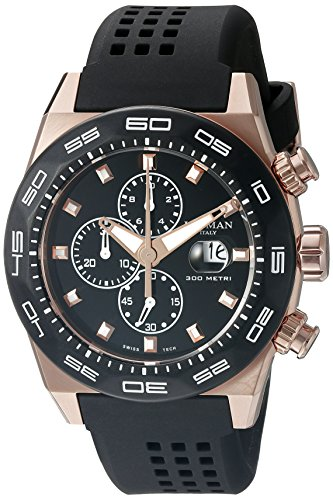 Locman Italy Men's 0217V5-RKBK5NS2K Stealth 300 Metri Analog Display Quartz Black Watch