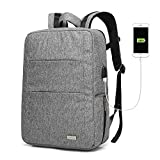 KAYOND Business Laptop Backpack, Fashion Computer Bag, Water-resistent College School Backpack, Eco-friendly Travel Shoulder Bag/USB Charging Port Fits Under 15.6' Laptop & Notebook (Gray)