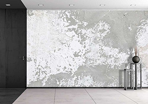 wall26 - Bright Gray Grunge Background Old Wall Texture - Removable Wall Mural | Self-adhesive Large Wallpaper - 100x144 inches