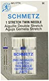 #8: Schmetz 1774 Twin Stretch Machine Needle Size 2.5/75 1ct (2 Pack)