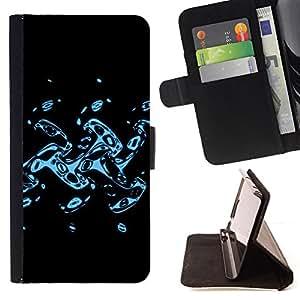 For Samsung Galaxy A3 - Abstract Splash /Funda de piel cubierta de la carpeta Foilo con cierre magn???¡¯????tico/ - Super Marley Shop -