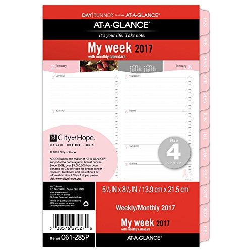 Day Runner Weekly and Monthly Planner Refill 2017, Special Edition, 5-1/2 x 8-1/2