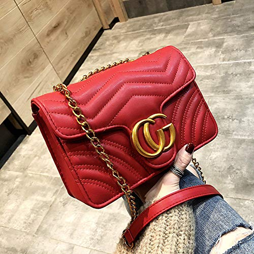 f0bd1ef3f05c Gentle C GC Marment Style 443497 Small matelassé Shoulder Bag Pocketbooks  for Women-Small red
