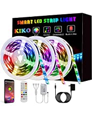 LED Light Strip, KIKO Led Strip Smart Color Changing Rope Lights SMD 5050 RGB Light Strips with Bluetooth Controller Sync to Music Apply for TV,Bedroom
