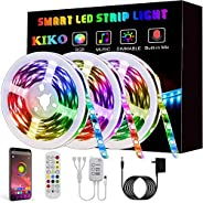 LED Light Strip, KIKO Led Strip Smart Color Changing Rope Lights SMD 5050 RGB Light Strips with Bluetooth Cont