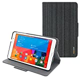 rooCASE Samsung GALAXY Tab Pro 8.4 Case Orb System Folio 360 Dual View Leather Case Smart Cover with Sleep/Wake Feature for GALAXY Tab Pro 8.4'' (Canvas Black) - Patented Complete Lifestyle Solution