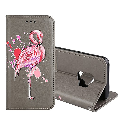 Mlb Precision Cut Magnet - Galaxy S9 Case,XYX [Glitter flamingo][Card Slot][Back buckle][Kickstand] PU Leather Phone Wallet Case for Samsung Galaxy S9, Gray