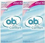 O.B. Pro Comfort Regular Tampons - 40 ct - 2 pk