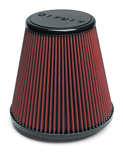 Airaid 700-455 Universal Clamp-On Air Filter: Round Tapered; 4 in (102 mm) Flange ID; 6 in (152 mm) Height; 6 in (152 mm) Base; 4.625 in (117 mm) Top