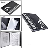WOGOD Music Sheet File Paper Documents Storage Folder Holder Plastic.A4 Size,40 Pockets (Black)
