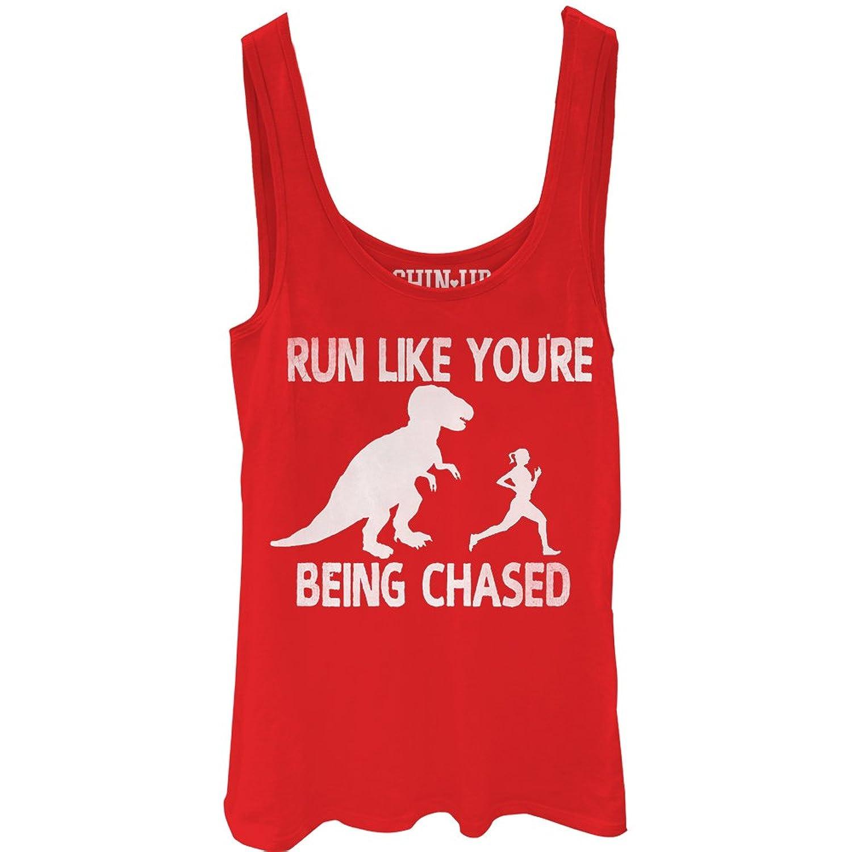 CHIN UP Dinosaur Run Juniors Graphic Tank Top