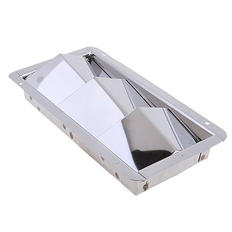 Homyl 1 Pieza Rejilla de Ventilación de Acero Inoxidable Reemplazable de Barco Marino - Plata 209mm
