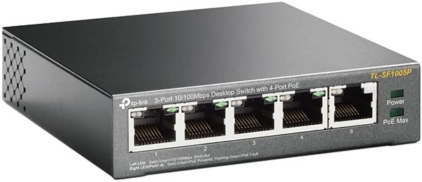 2 Pack 5-Port 10//100Mbps Desktop Switch with 4-Port PoE TL-SF1005P GOWOS