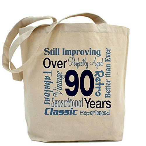Más Bolso Cafepress nbsp;años; 90th Cumpleaños nbsp; De Diseño 90 Único 8xTEO