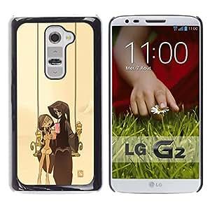 // PHONE CASE GIFT // Duro Estuche protector PC Cáscara Plástico Carcasa Funda Hard Protective Case for LG G2 / Pareja Parca /