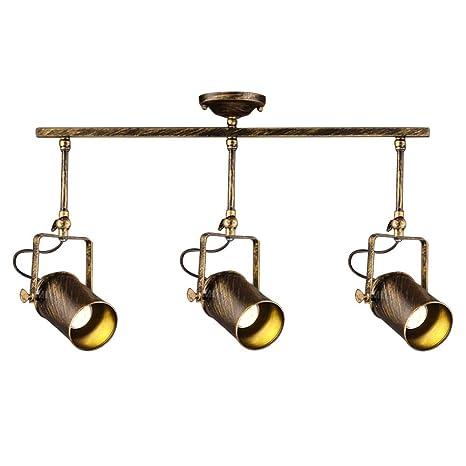 Retro industriales rieles - Lámpara de techo, motent Vintage ...