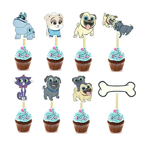 Puppy Topper Cupcake Birthday supplies product image