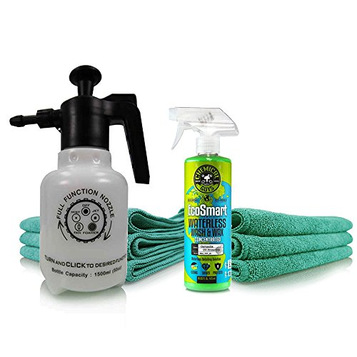 Chemical Guys HOL401 Eco Friendly Drought-Buster Waterless Car Wash & Wax Kit (8 Items)
