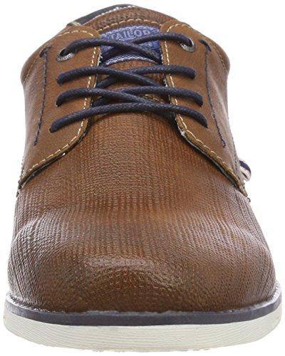 4880702 Marrón Cognac TOM Tailor Cordones de Zapatos para Hombre Brogue 15wgqvB5