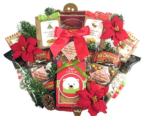 - Gift Basket Village Deluxe Christmas Cookie Platter, 8 Pound
