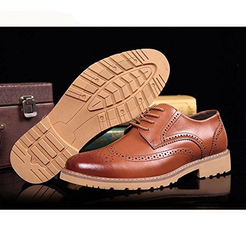 Hommes D'affaires Uniforme Pointu Chaussures Bureau Oxford Classique Chaussures Occasionnel Brogues Lace Casual De Yellow Derby Mariage Up ppqwrBA6W