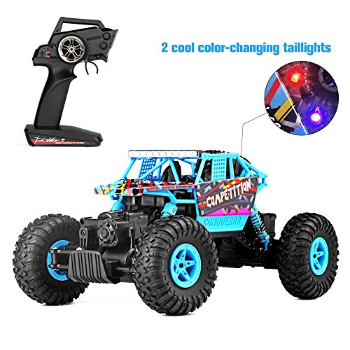 Geekper Electric RC Car - Off Road Remote Control Car RTR RC Buggy RC Monster Truck 1:18 4WD 2.4Ghz High Speed ( with 1 Rechargeable Battery )
