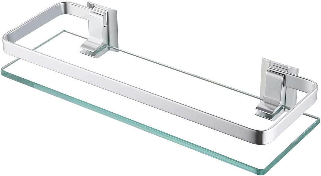 Bathroom Glass Shelf Wall Mounted Aluminum Modern Shower Accessories Organizer