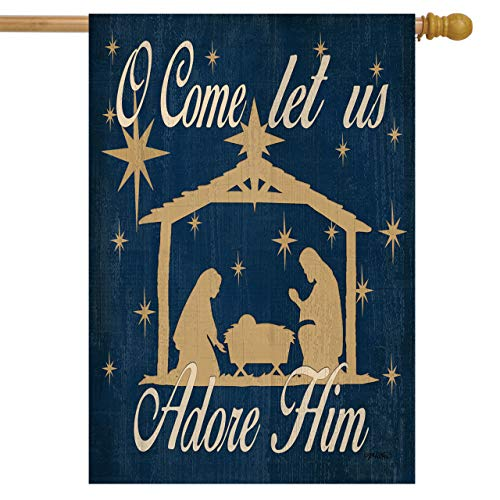 Briarwood Lane Let Us Adore Him Christmas House Flag Nativity Scene 28