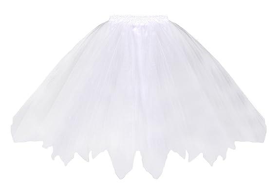 V-SOL Falda Tutú Mujer Vestido de Fiesta Danza Ballet Talla Única ...