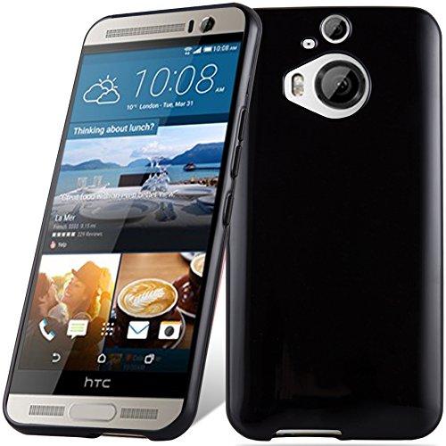 Cadorabo - HTC ONE M9 PLUS / ONE ME Cubierta protectora de silicona TPU en diseño AIR - Case Cover Funda Carcasa Protección en TRANSPARENTE-LILA NEGRO