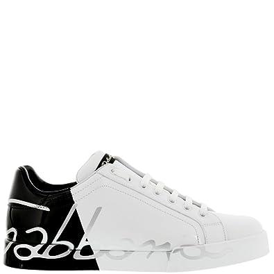 Dolce E Gabbana, Baskets pour Homme BlancNoir Blanc