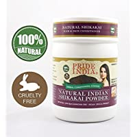 Pride Of India Herbal Hair & Skin Conditioning Powder, Half Pound (Natural Shikakai Powder)